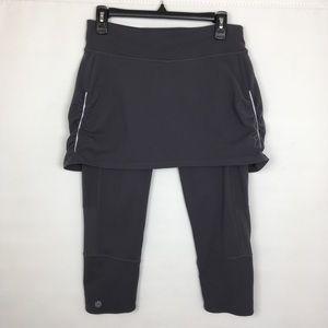 Athleta Skirt Leggings Size Medium Gray